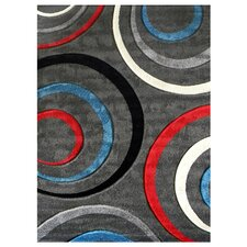 Studio 605 Grey Geometric Design Rug