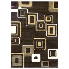 Studio 607 Chocolate Geometric Design Rug