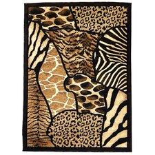 Skinz 70 Mixed Brown Animal Skin Prints Patchwork Area Rug