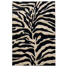 Sculpture Zebra Skin Print Rug