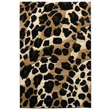 Sculpture Leopard Skin Print Rug