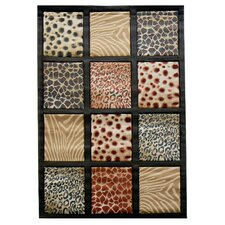 Sculpture Animal Skin Print Rug