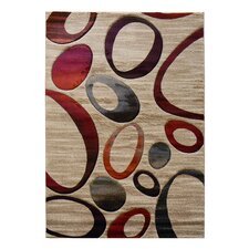 Sculpture Champaign Geometric Oval Rug