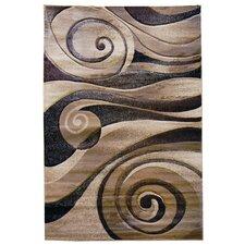 Sculpture Brown/Tan Abstract Swirl Area Rug