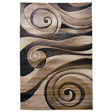 Sculpture Champaign Abstract Swirl Rug