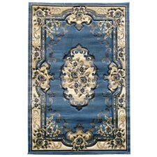 Sculpture Blue Oriental Rug