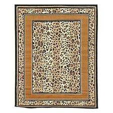 African Adventure Tan Cheetah Skin Area Rug