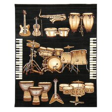 African Adventure Drums Novelty Rug
