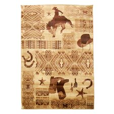 Lodge Design Cowboy and Boots Novelty Rug