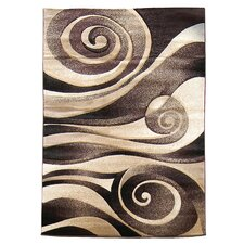 <strong>DonnieAnn Company</strong> Sculpture Chocolate Abstract Swirl Rug