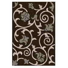 <strong>DonnieAnn Company</strong> Lexington Chocolate Floral / Swirl Vine Rug