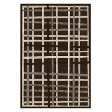 Lexington Chocolate Crosshatch Rug