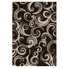 Lexington Chocolate Small Swirl Rug