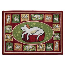 PB Paws & Co. Rich Aroma Dog's Life Tapestry Rug