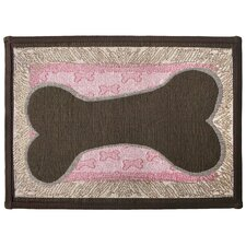 <strong>Park B Smith Ltd</strong> PB Paws & Co. Sorbet / Woodland Bone Sketch Tapestry Rug