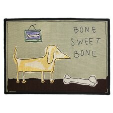 PB Paws & Co. Multi Bone Sweet Bone Tapestry Rug