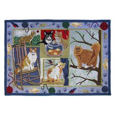 PB Paws & Co. Multi Cat Days Tapestry Rug