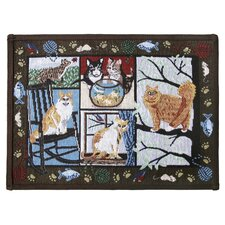 PB Paws & Co. Woodland Cat Days Tapestry Rug