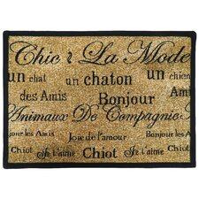 <strong>Park B Smith Ltd</strong> PB Paws & Co. Sand / Black Chic Pet Tapestry Rug