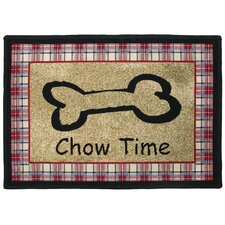 PB Paws & Co. Multi Chow Time Tapestry Rug