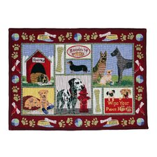 PB Paws & Co. Moroccan Red Dog Days Tapestry Rug