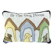 PB Paws & Co. Cotton Dog Houses Decorative Pillow