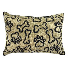 PB Paws & Co. Cotton Puppy Paws Decorative Pillow