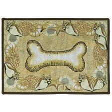 PB Paws & Co. Multi Seashell Bone Tapestry Rug