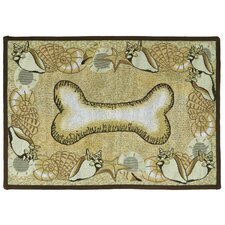 PB Paws & Co. Multi Seashell Bone Tapestry Rug