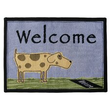 PB Paws & Co. Multi / Blue Water Welcome Dog Tapestry Rug