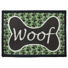 PB Paws & Co. Coffeebean / Pesto Woof Tapestry Rug