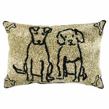 PB Paws & Co. Cotton Dog Friends Decorative Pillows (Set of 2)