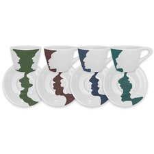 <strong>notNeutral</strong> Face/Vase Espresso Set (Set of 4)