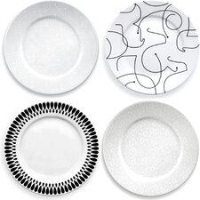 <strong>notNeutral</strong> In-The-Mix Dinner Plate (Set of 4)