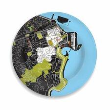 """City On A Plate 12"""" Rio de Janeiro Dinner Plate"""