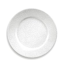 White on White Flora Dinner Plate Set