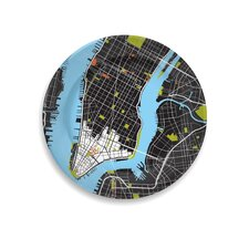 "City on a Plate 12"" New York City Dinner Plate"
