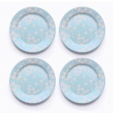 Blue Flora Salad Plate Set