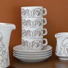 Season Cups With Saucers Set (Set of 4)