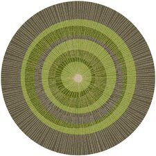 Eccentric Green Area Rug
