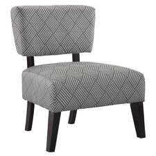 Delano Crosshatch Chair in Gray