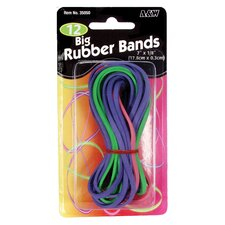"12 Pack 7"" x 1/8"" Big Rubber Band"