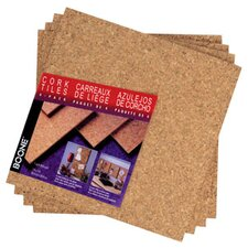 "<strong>AccoBrands</strong> 12"" x 12"" x 0.25"" Natural Cork Tile (4 Pack)"