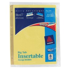 8 Tab WorkSaver Big Tab Paper Divider in Clear
