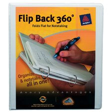 "1"" Flip Back 360º View Binder in White"