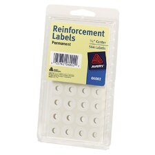 "1/4"" Reinforcement Label in White (Set of 6)"