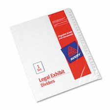 Allstate-Style Legal Index Dividers in White