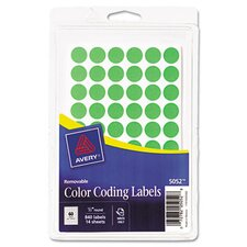 <strong>Avery</strong> Removable Self-Adhesive Round Color-Coding Labels