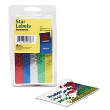 Self-Adhesive Assorted Color Foil Stars, 440/Pack