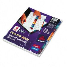 Ready Index Easy Edit Multicolor Table of Contents Dividers
